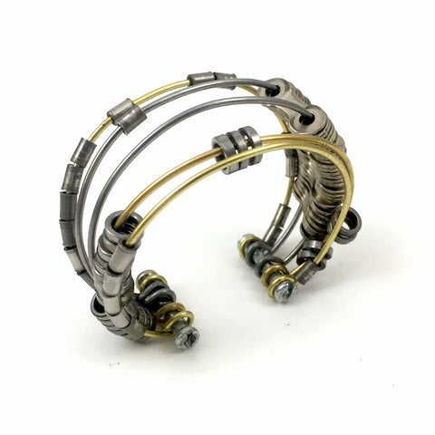 Reinvented Bicycle Chain Cuff, Bike Jewelry, [collection], LINKS by Annette