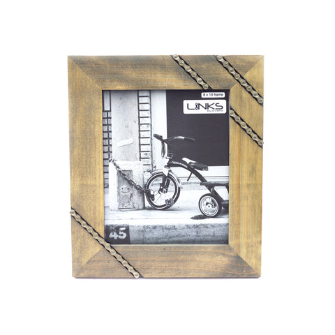 Cycling Chain Picture Frame, 8x10, Home goods, elevated, upcycled, unique, handmade, chicago, bike parts, Bike gifts, LINKS by Annette