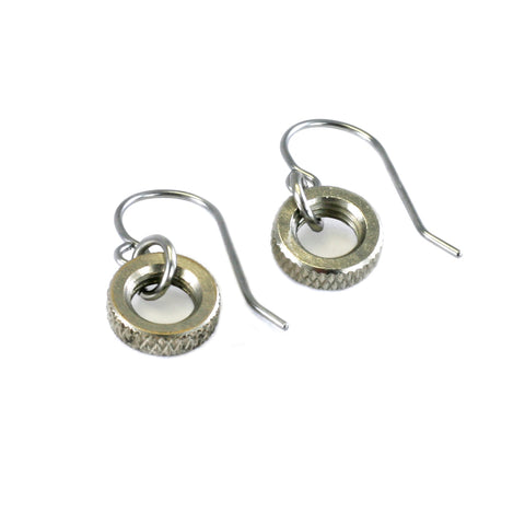 Presta Valve Nut Earrings
