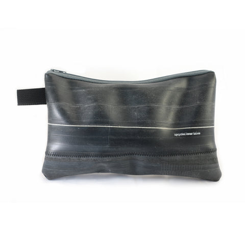 Inner Tube Pouch, large, Small things, elevated, upcycled, unique, handmade, chicago, bike parts, Bike gifts, LINKS by Annette
