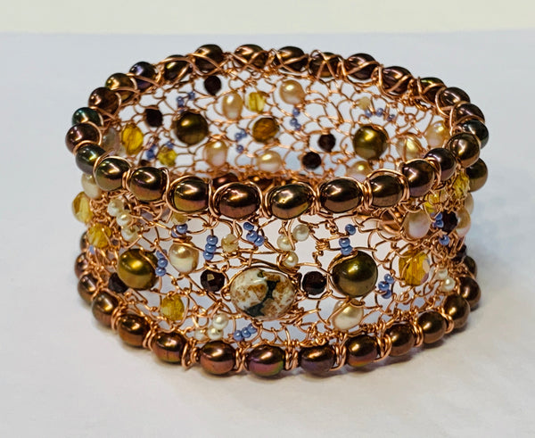 Woven Wire Bangle