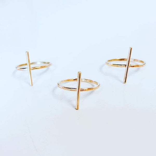Gold Filled X Cross Rings
