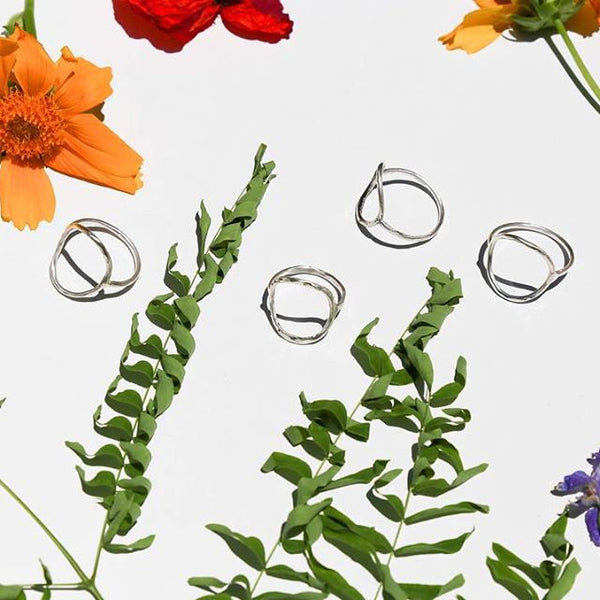 Sterling Silver Circle Rings