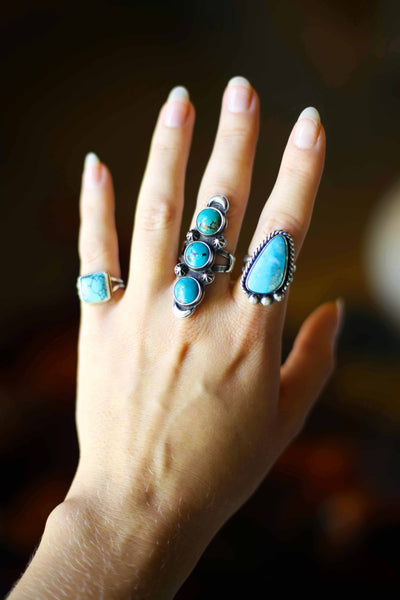 Turquoise Tri Stone Ring