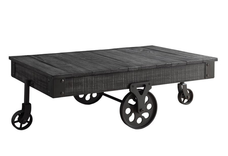 Trolley Coffee Table - Charcoal