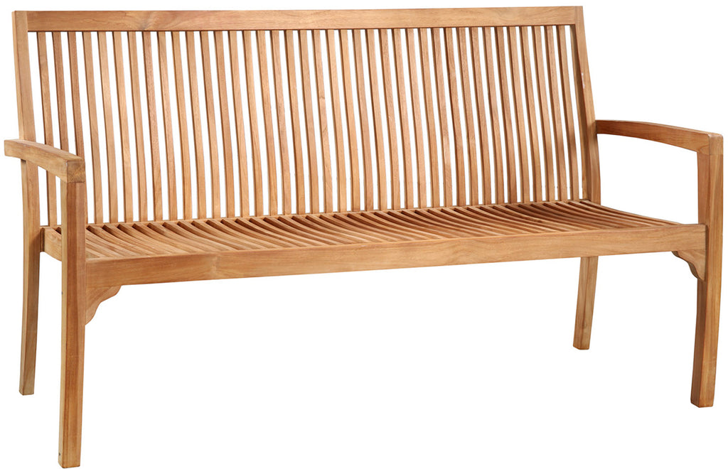 Outdoor Modern Teak Bench 63""