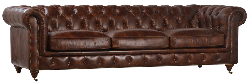 Laguna Full Grain Leather Sofa 97""