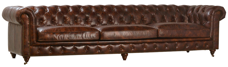 Laguna Full Grain Leather Sofa 119""