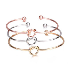 Knot Cuff Rose Gold Silver Color Bracelet Bangle