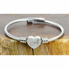 Women's Ladies Stainless Steel WORDS Bar Bracelet Free Engraving