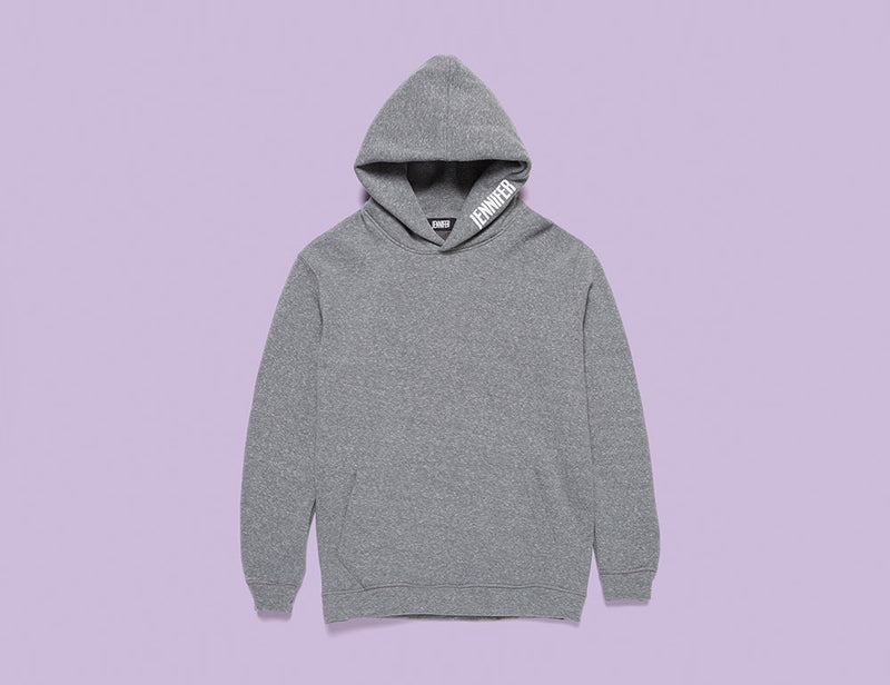 """GIRLFRIEND"" HOODIE :: CHARCOAL HEATHER"