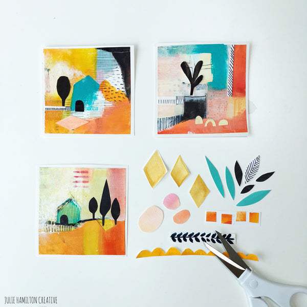 Julie Hamilton Creative - the creative process - a little art