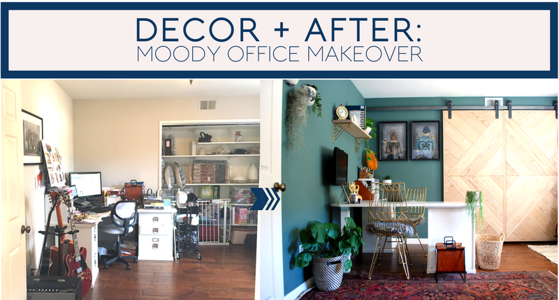 Office Makeover To Decor After Moody Office Makeover Beachy Boheme