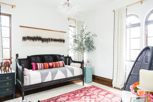 Eclectic Bohemian Interior Design by Encinitas based interior designer Hanin Smith of Beachy Boheme.
