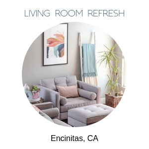 Living room refresh Encinitas