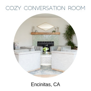 cozy conversation room design Encinitas