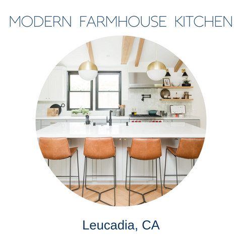 modern farmhouse kitchen remodel Leucadia