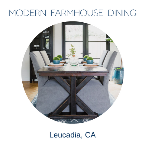 Modern Farmhouse Dining Room Decor Leucadia