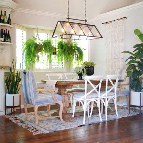 jungalow style dining room beachy boheme