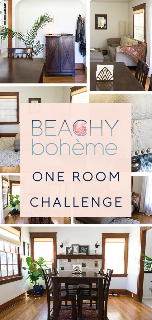 One Room Challenge - Beachy Bohème