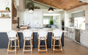 Modern coastal Kitchen Interior Design by Encinitas based interior designer Hanin Smith of Beachy Boheme.