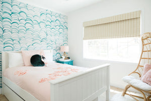 Fun beachy girls bedroom design by Encinitas based interior designer Hanin Smith of Beachy Boheme.