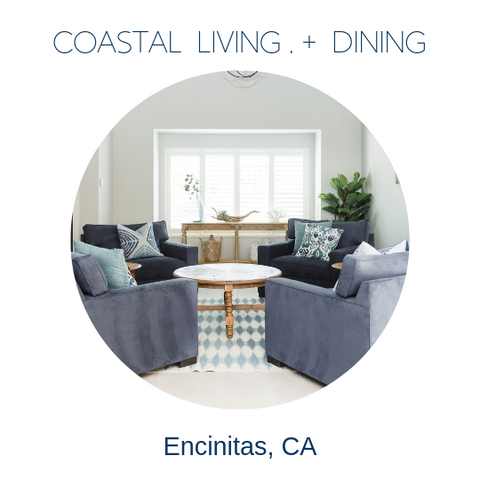 coastal living beachy dining room decor by Encinitas interior designer Hanin Smith