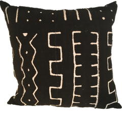 "MUD CLOTH PILLOW - 18""X18"" SQUARE"