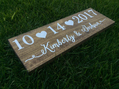Save The Date Photoshoot Wooden Sign - Rustic Save The Date Sign - Heart And Hand