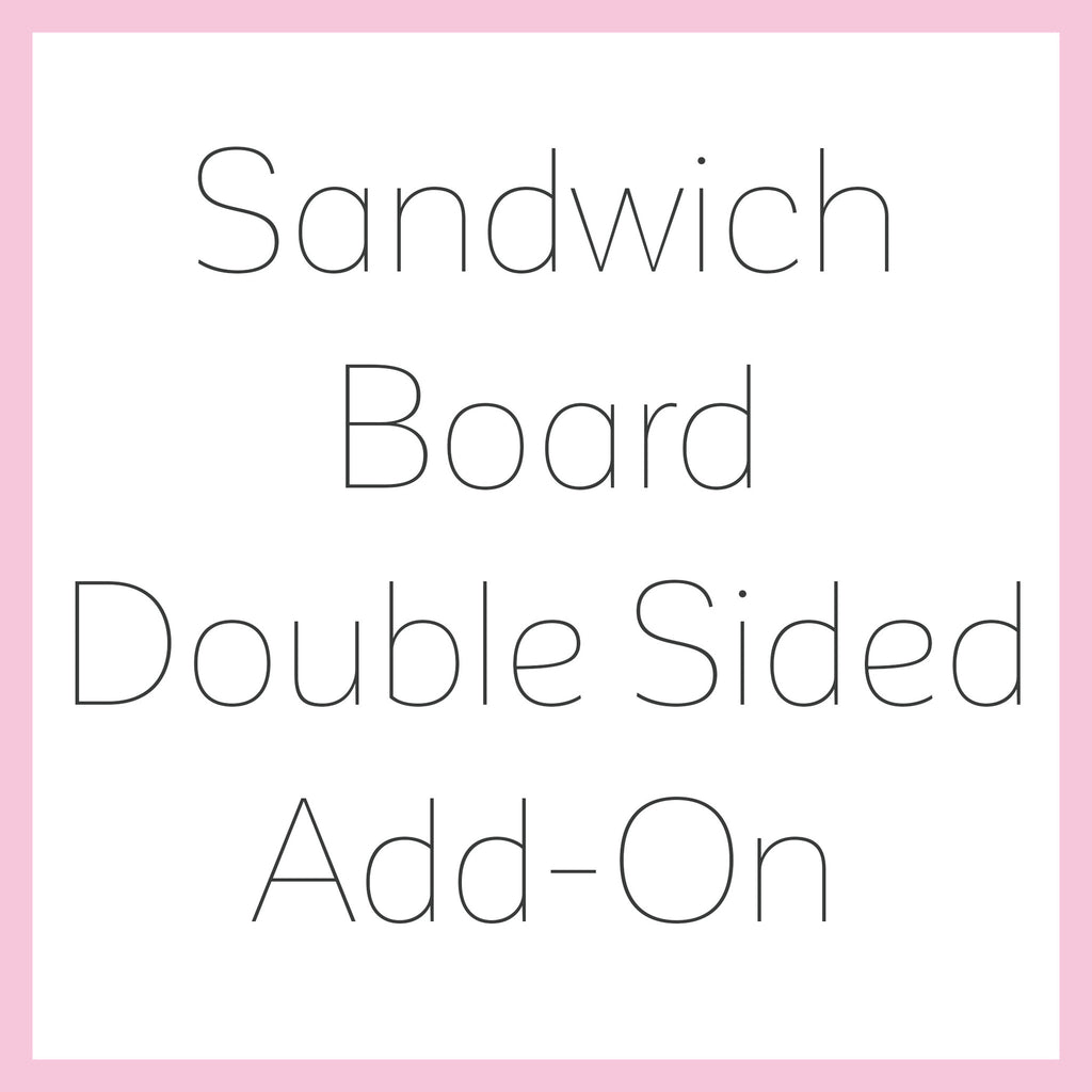 Sandwich Board Double Sided Art Add-On - Heart And Hand