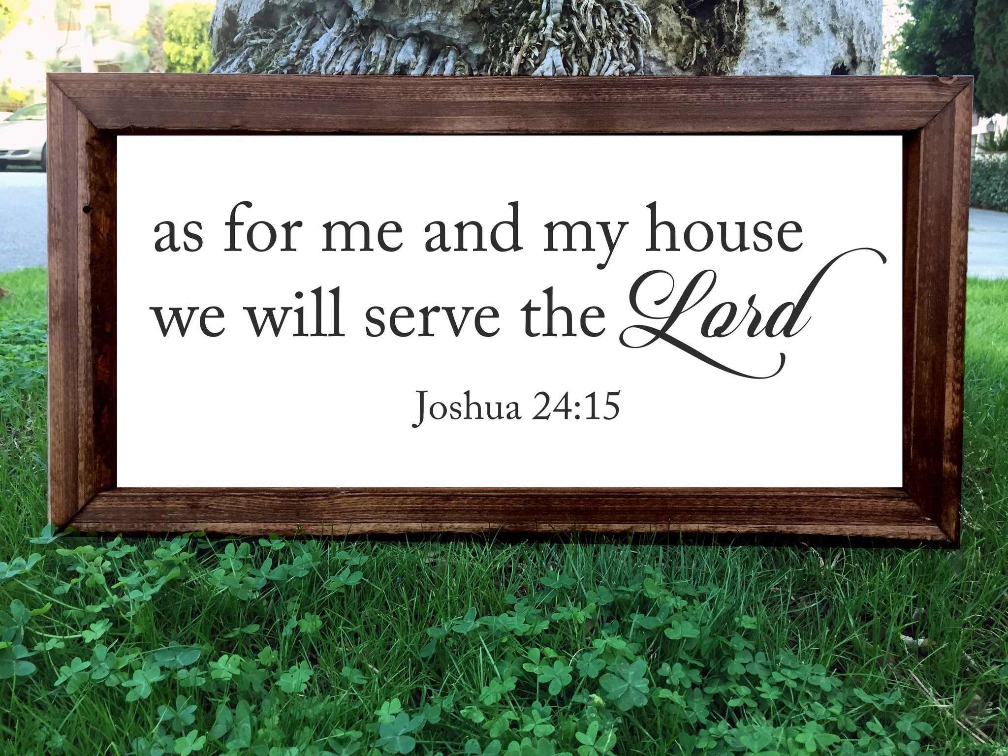 As For Me And My House We Will Serve The Lord Framed Artwork