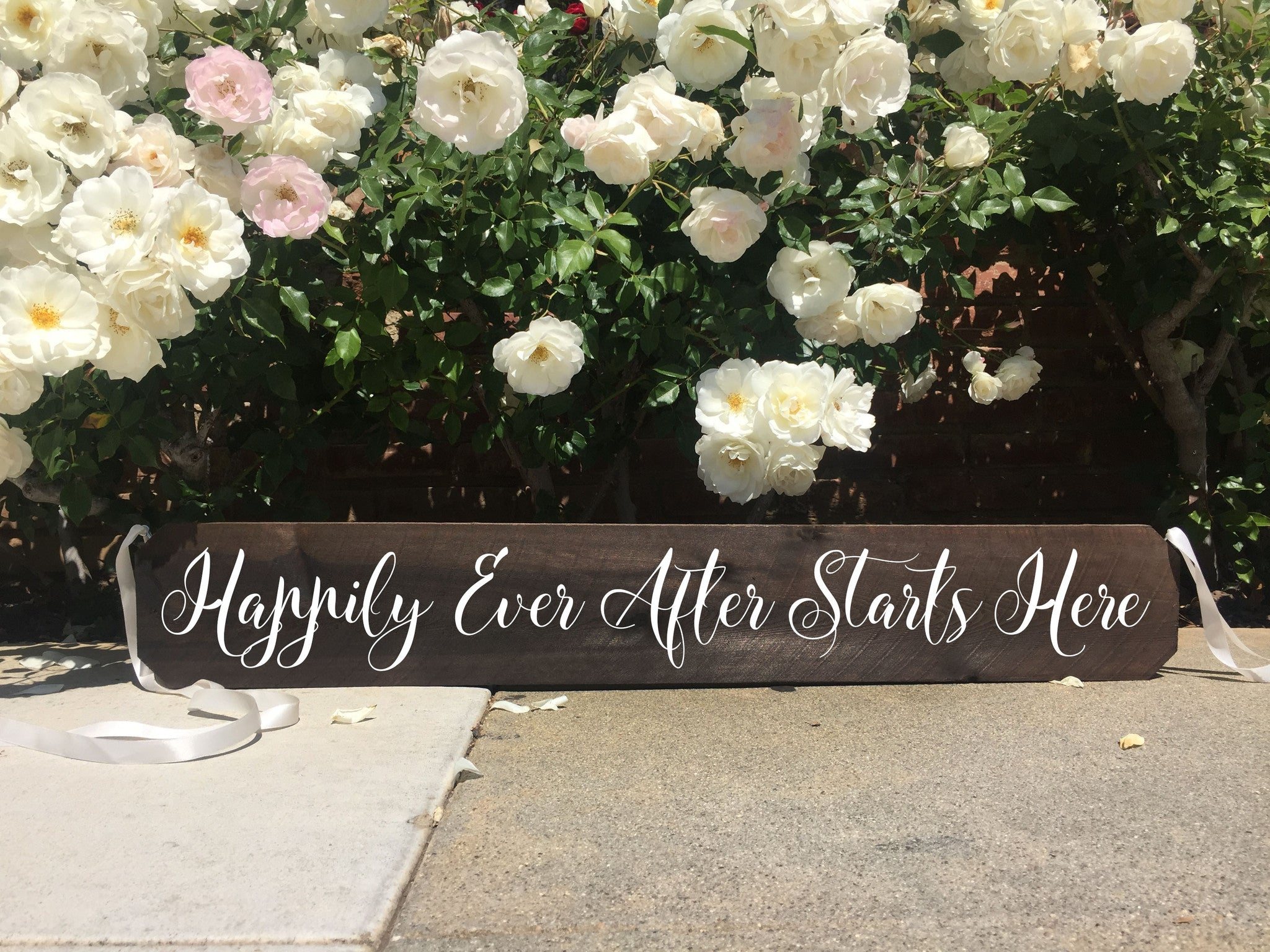 Wedding aisle sign rustic wedding sign happily ever after starts wedding aisle sign rustic wedding sign happily ever after starts here ceremony aisle rustic wedding junglespirit Choice Image