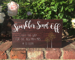 Sparkler Send Off Sign - Rustic Wedding Sign - Heart And Hand