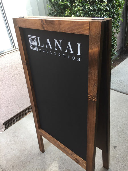 Custom Business Sign Logo Sandwichboard - Wooden Rustic Business Chalkboard Sandwich Board - Heart And Hand