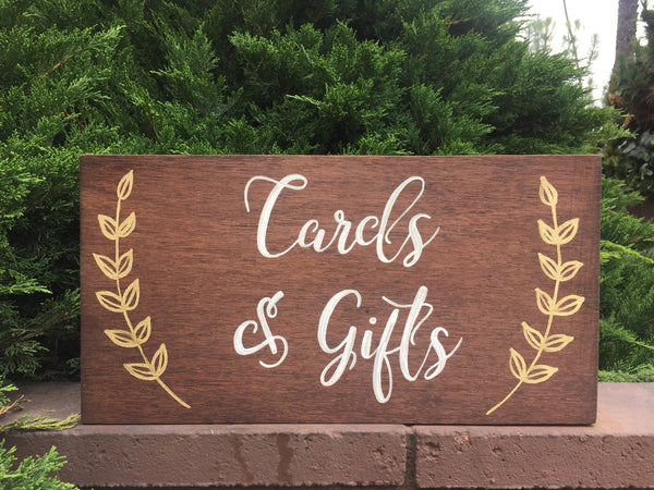 Cards & Gifts Rustic Wedding Sign Wooden Stand Alone Sign - Heart And Hand