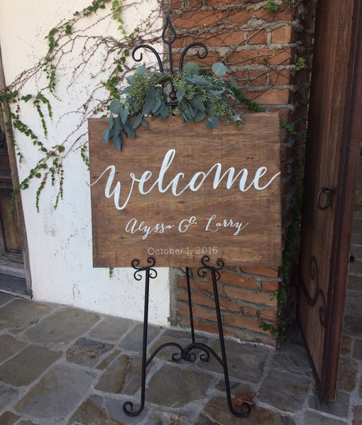 Rustic Wedding Sign - Welcome Wedding Sign Wooden Board