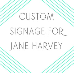 Custom Signage Reserved For Jayne Harvey - Heart And Hand