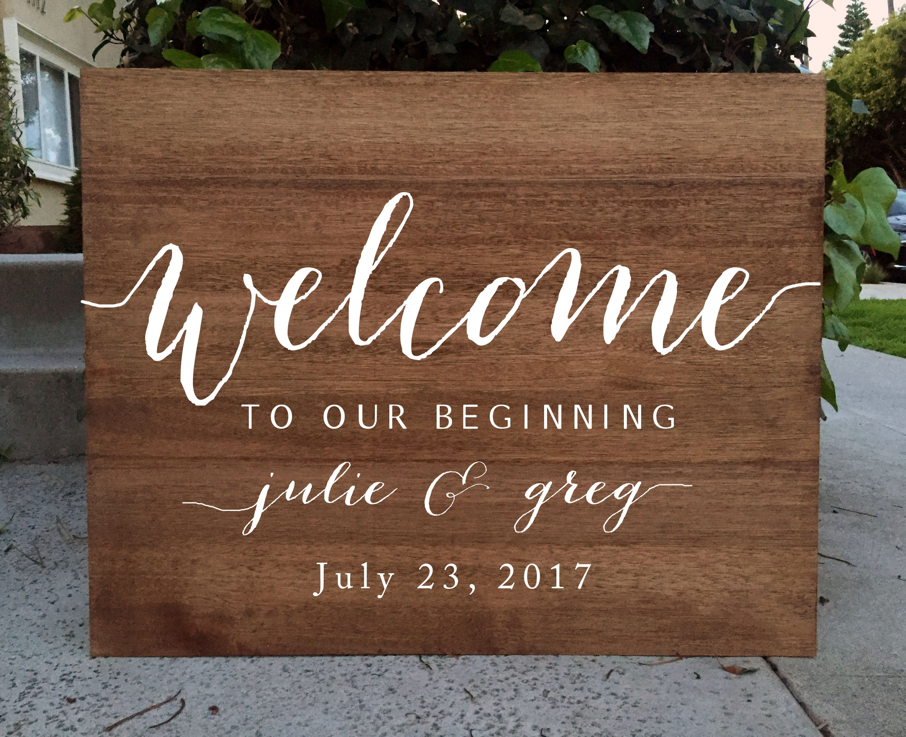 Rustic Wedding Sign Welcome To Our Beginning Wedding