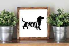 Personalized Dog Sign - Dog Lover Framed Artwork Rustic Home Decor Wooden Sign - Heart And Hand