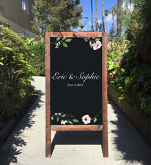 Wedding Chalkboard Sign Easel | Wedding Sandwich Board | Rustic Wedding Decor