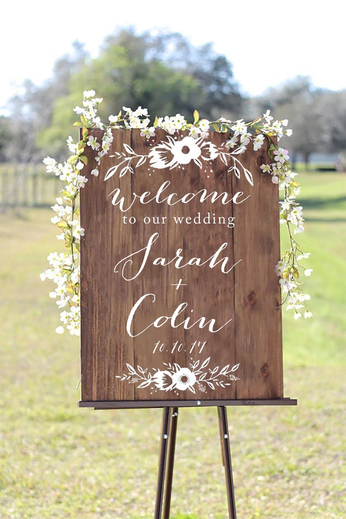 Welcome to our wedding wooden board sign welcome wedding sign welcome to our wedding wooden board sign welcome wedding sign wooden board heart and junglespirit Choice Image