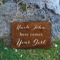 Ring Bearer Sign - Last Chance To Run Rustic Wedding Sign