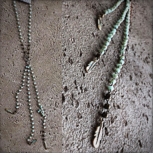 Fabulous Feather Necklace - Southern Clothing Boutique
