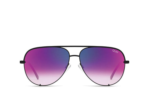 Quay Sunglasses - High Key Mini Blk/Pnk
