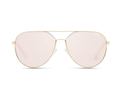 Quay Sunglasses - Hold Please Gld/Gld