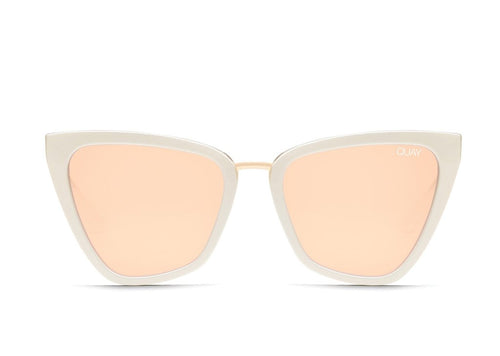 Quay Sunglasses - Reina - White