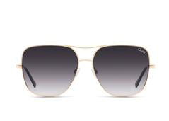 Quay Sunglasses Stop and Stare - GLD/SMK