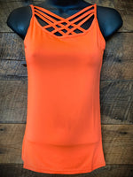 Caged Cami - Neon Coral