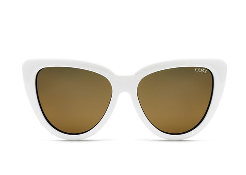Quay Sunglasses - Stray Cat - WHITE