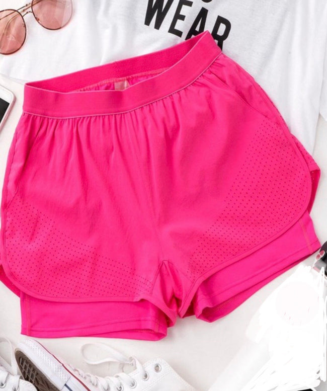 Posh Running Shorts-fuchsia